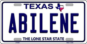 Abilene Texas Novelty Wholesale Metal License Plate