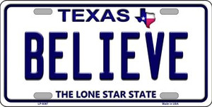 Believe Texas Background Novelty Wholesale Metal License Plate