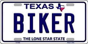Biker Texas Background Novelty Wholesale Metal License Plate