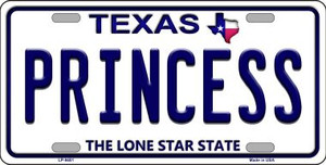 Princess Texas Background Novelty Wholesale Metal License Plate LP-9401