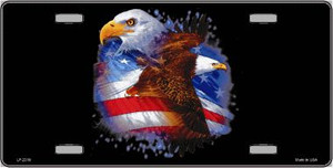 American Flag Eagles Wholesale Metal Novelty License Plate LP-2310