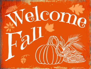 Welcome Fall Wholesale Metal Novelty Parking Sign