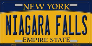 Niagara Falls New York Background Wholesale Metal Novelty License Plate