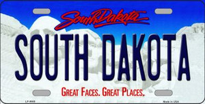 South Dakota Background Wholesale Metal Novelty License Plate