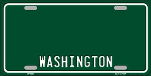 Washington Green Background Wholesale Metal Novelty License Plate