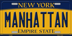 Manhattan New York Background Wholesale Metal Novelty License Plate