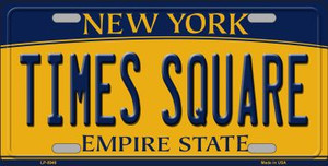Times Square New York Background Wholesale Metal Novelty License Plate