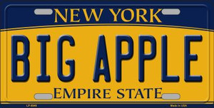 Big Apple New York Background Wholesale Metal Novelty License Plate