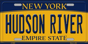 Hudson River New York Background Wholesale Metal Novelty License Plate
