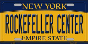 Rockefeller Center New York Background Wholesale Metal Novelty License Plate