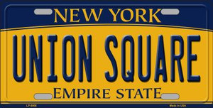 Union Square New York Background Wholesale Metal Novelty License Plate