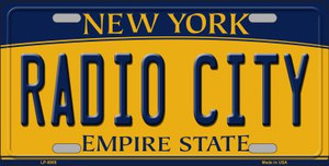 Radio City New York Background Wholesale Metal Novelty License Plate