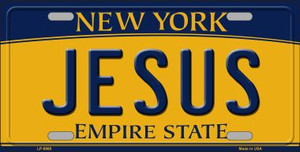 Jesus New York Background Wholesale Metal Novelty License Plate
