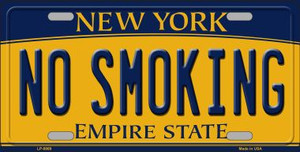 No Smoking New York Background Wholesale Metal Novelty License Plate