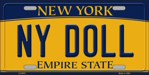 NY Doll New York Background Wholesale Metal Novelty License Plate