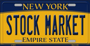 Stock Market New York Background Wholesale Metal Novelty License Plate