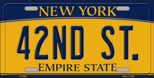 42nd St New York Background Wholesale Metal Novelty License Plate