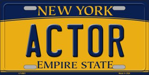 Actor New York Background Wholesale Metal Novelty License Plate