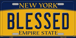 Blessed New York Background Wholesale Metal Novelty License Plate