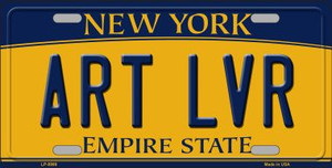 Art Lvr New York Background Wholesale Metal Novelty License Plate