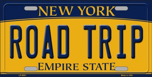 Road Trip New York Background Wholesale Metal Novelty License Plate