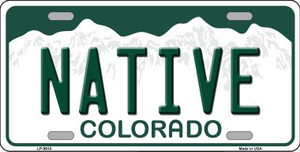 Native Colorado Background Wholesale Metal Novelty License Plate
