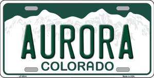 Aurora Colorado Background Wholesale Metal Novelty License Plate