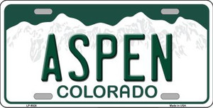 Aspen Colorado Background Wholesale Metal Novelty License Plate