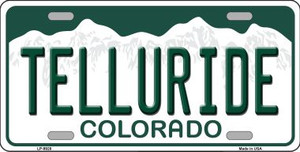 Telluride Colorado Background Wholesale Metal Novelty License Plate