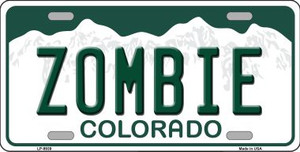 Zombie Colorado Background Wholesale Metal Novelty License Plate