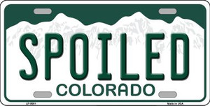 Spoiled Colorado Background Wholesale Metal Novelty License Plate