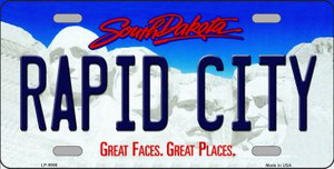 Rapid City South Dakota Background Wholesale Metal Novelty License Plate