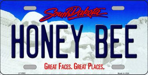 Honey Bee South Dakota Background Wholesale Metal Novelty License Plate
