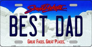 Best Dad South Dakota Background Wholesale Metal Novelty License Plate