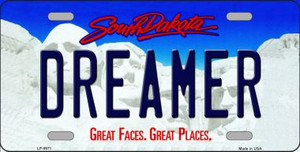 Dreamer South Dakota Background Wholesale Metal Novelty License Plate