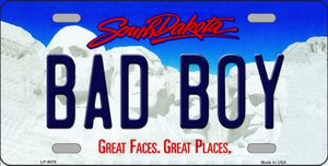 Bad Boy South Dakota Background Wholesale Metal Novelty License Plate