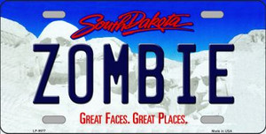 Zombie South Dakota Background Wholesale Metal Novelty License Plate
