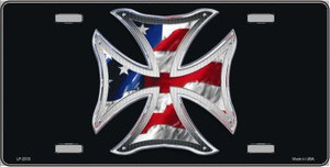 Maltese Cross Flag Wholesale Metal Novelty License Plate LP-2333