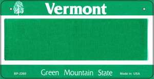 Vermont Novelty State Background Bicycle License Plate