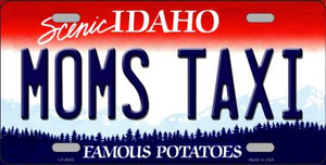 Moms Taxi Idaho Background Wholesale Metal Novelty License Plate