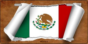 Mexico Flag Scroll Wholesale Metal Novelty License Plate