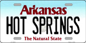 Hot Springs Arkansas Background Wholesale Metal Novelty License Plate