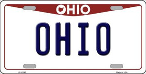 Ohio Background Wholesale Metal Novelty License Plate