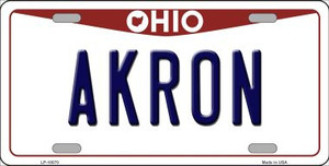 Akron Ohio Background Wholesale Metal Novelty License Plate