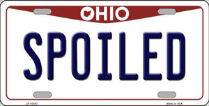 Spoiled Ohio Background Wholesale Metal Novelty License Plate