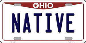 Native Ohio Background Wholesale Metal Novelty License Plate