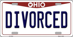 Divorced Ohio Background Wholesale Metal Novelty License Plate