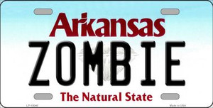Zombie Arkansas Background Wholesale Metal Novelty License Plate