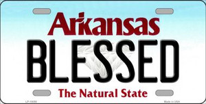 Blessed Arkansas Background Wholesale Metal Novelty License Plate