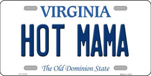 Hot Mama Virginia Background Wholesale Metal Novelty License Plate